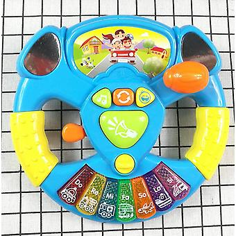 Promotion Toy Musical Instruments For Kids Baby Steering Wheel Musical Handbell Developing Educational Toys Children Gift  (as Picture)