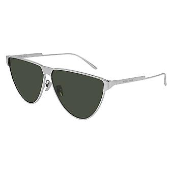 Bottega Veneta BV1070S 002 Silver/Green Sunglasses