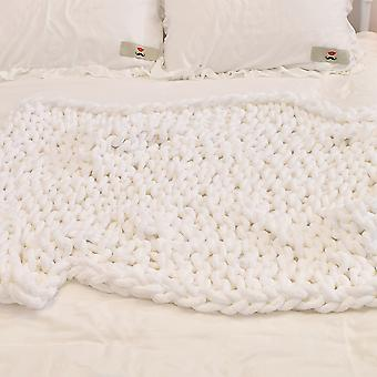 Homemiyn Knitted Blanket Thick Warm Cozy Soft To Touch
