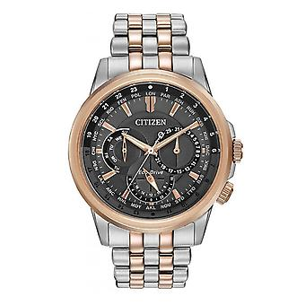 Citizen Watches Bu2026-65h Eco-drive Gents World Time Two-tone Stainless Steel Watch
