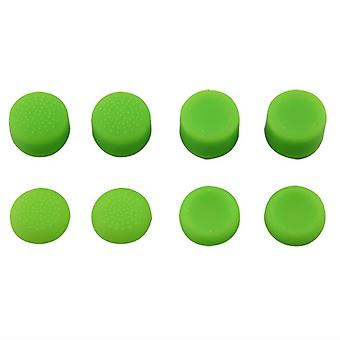 Thumbstick grips for ps4 sony controller rubber silicone grip cover - 8 pack green | zedlabz