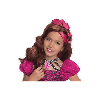 Girls Ever After High Briar Beauty Wig Halloween Fancy Dress Costume Accessory
