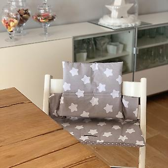Puckdaddy Seat Cushion Birte for High Chair Stokke, Star Pattern