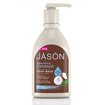Jason Natural Products Smoothing Coconut Body Wash, 30 Oz