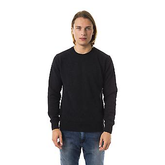 Uominitaliani Anthracite Grey Crew Neck Sweater