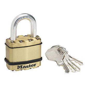 Master Lock Excell Brass Finish 45mm Padlock 4-Pin MLKM1B