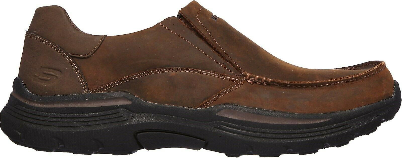 Skechers Mens Helano Leather Loafers