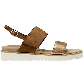 Benvado Lilly Leather and Gold Women's Sandal