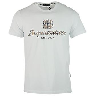 Aquascutum Signature Check Logo White T-Shirt