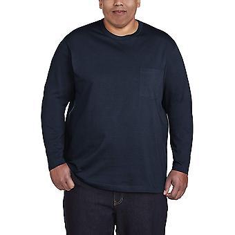 Essentials Men's Big & Tall Long-Sleeve Pocket T-Shirt, Navy, 3X Tall