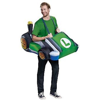 Men's Luigi Kart Inflatable Costume