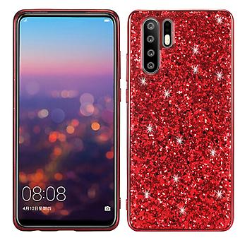 For OPPO A91 / F5 / Reno3 Glitter Powder Shockproof TPU Protective Case(Red)