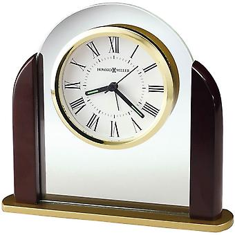 Howard Miller Derrick Tabletop Clock - Dark Brown/Gold