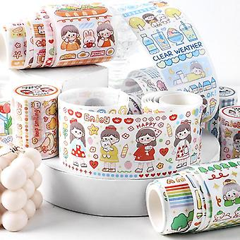 Long Journey Series Diy Specil Oil Sticker Paper, Decorative Tape