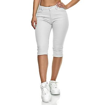 Женщины Джинсовая ткань Короткие Капри Джинсы Шорты Летние брюки Легкие Повседневные 5 Карманный дизайн