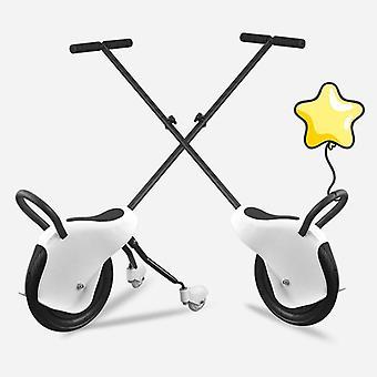 Three-wheels Stroller, Balance Tricycle, Portable Trolley Wheel, Hand Push
