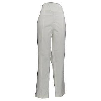Isaac Mizrahi Live! Mujeres's Pantalones Cintura Ancha Tobillo Blanco A353848
