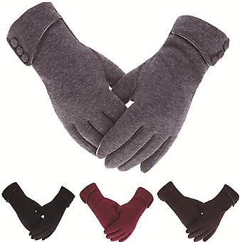 Women Touch Screen Winter Gloves Autumn Warm Gloves Wrist Mittens Driving Ski