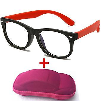 新しいアンチブルーライトグラス光学フレームコンピュータ透明メガネ