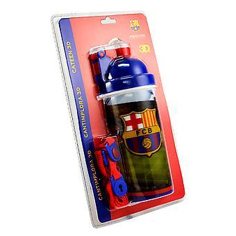 FC Barcelona Official 3D Football Crest Water Bottle