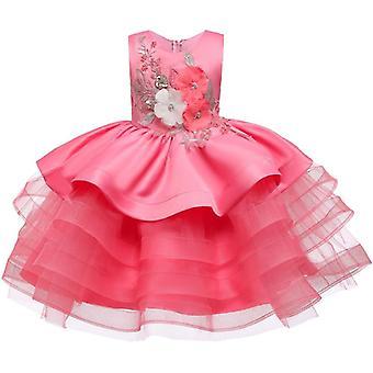 Little Kids Satin Communion Dresses Glitz Ball Gown Pageant Flower For Weddings