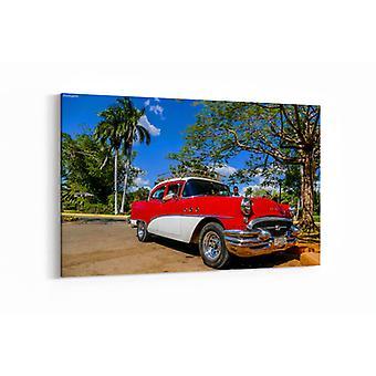 Schilderij - Cuba , classic car — 90x60cm