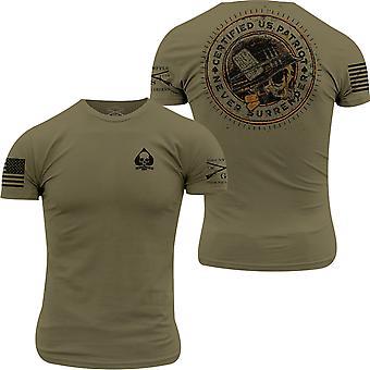 Grunt stil Patriot Seal T-skjorte - militær grønn