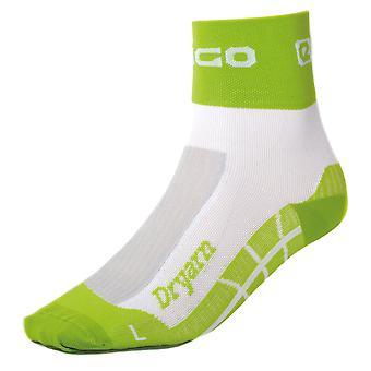 Eigo Dryarn Socks White/Green - S
