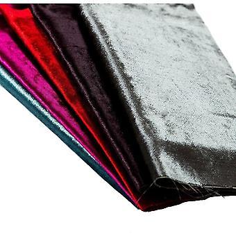 Mcalister tekstiler skinnende vin rød knust fløjl stofprøve