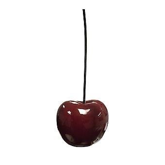 "Red Cherry Sculpture, 15.25"""