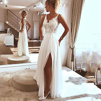 شاطئ فستان الزفاف، الجانب انقسام أعلى الدانتيل بوهو فستان العروس