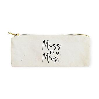 Miss To Mrs.-cotton Canvas Pencil Case And Travel Pouch