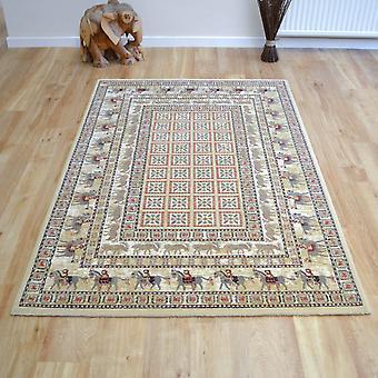 Szlachetny sztuka tradycyjne dywany 65106 190 Pazyryk beżowy