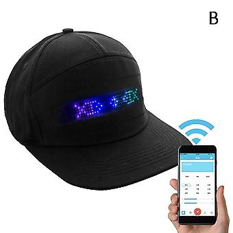 Men Women Bluetooth Led Hip Hop Hat - Casquette d'affichage programmable
