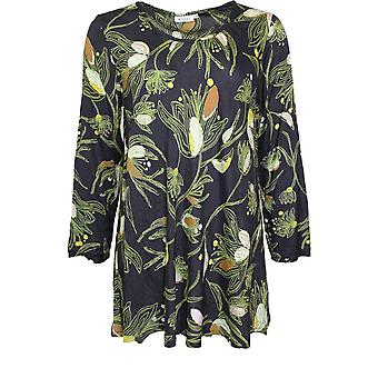 Masai Clothing Kay Green Floral Print Top