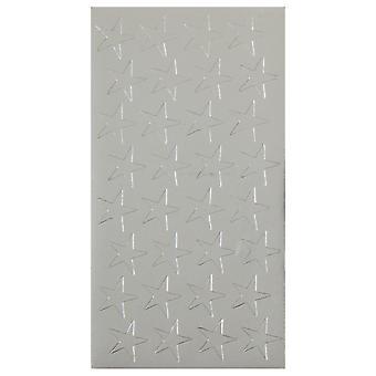 """1/2"""" Silver (250) Presto-Stick Foil Star Stickers"""