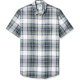 Brand - Goodthreads Men's Standard-Fit Short-Sleeve Lightweight Madras...