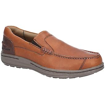 Hush Puppies Murphy Victory Mens Leather Shoes Tan UK Size