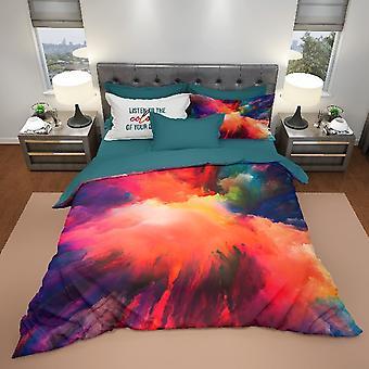 Parure Dream Bunte Baumwollbettbezug, L150xP200 cm, L52xP82 cm