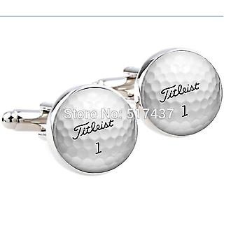 Wedding Cufflinkss Golf Ball Cufflinks Round Glass Hand Made Cufflinks Men Cuff