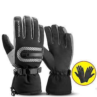 Ski Gloves Motorcycle Waterproof Fleece Thermal Gloves