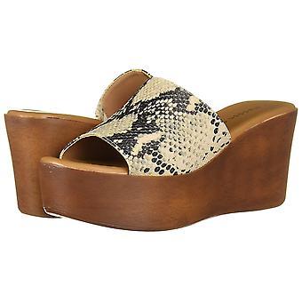 Madden Girl Naiset's Kengät Karrmen Kangas Peep Toe Casual Platform Sandaalit