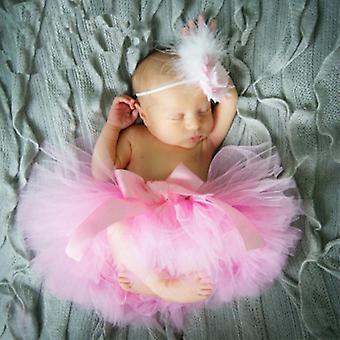 Baby Tutu Clothes Skirt Newborn Headdress Flower Photo Prop Outfits Photography