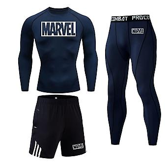 Running Shirt Men Compression Pants, Tracksuit Leggings Sport Fitness Workout