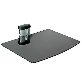 tectake Vægbeslag med 1 hylde til DVD-afspiller eller modtager model 2 - sort