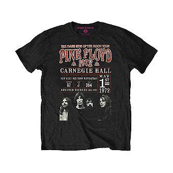 Pink Floyd Carnegie 1972 Affisch Svart Eco T-Shirt