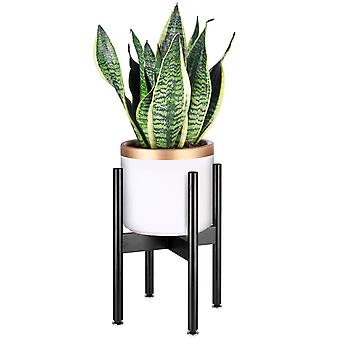 Plant Stand Bamboo Indoor Flower Pot Holder Display Potted Rack (nero)