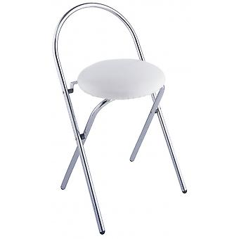 bath stool Salerno 38 x 63 cm steel white/chrome