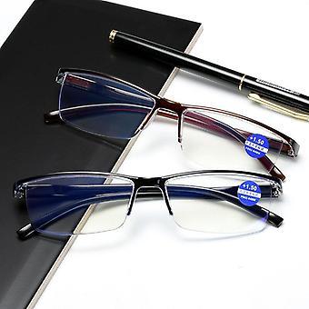 Glasses Ultra-light Half Rim Glasses Men's And Women's Retro Prescription