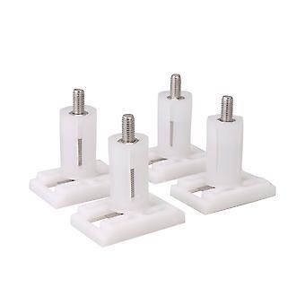 4Pcs Replacement Hinge Plastic White Screws for Toilet Seats 3.6x2.4cm
